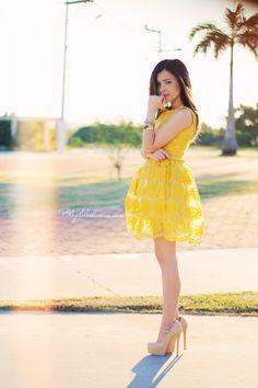 Blog da Lê-Moda Acessível: Yellow Dress