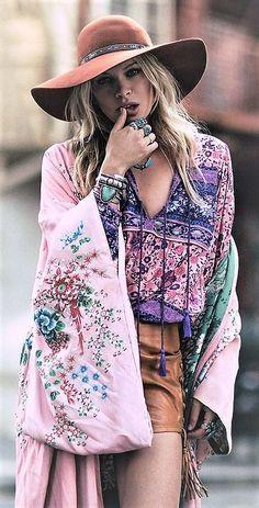 Boho style Free spirited Fashion
