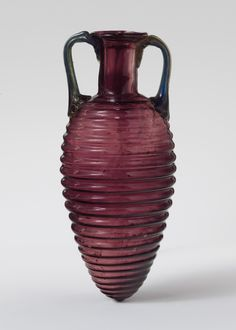 Roman, Glass amphoriskos with horizontal ribs, 2nd half of the 1st century