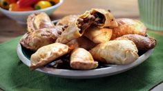Traditional in Spain and Portugal, empanadas are little pastry pockets with an intensely flavoured savoury filling. They are great eaten any time but make a particularly good tapas-style snack with a cold beer.