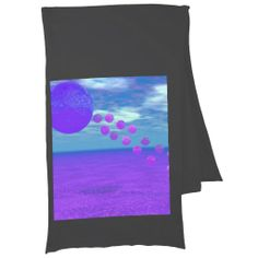 Flying Kite, Abstract Violet, Orchid, Rose, Purple Scarf Wrap