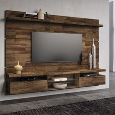 Tv Unit Interior Design, Tv Unit Furniture Design, Tv Wall Design, Tv Unit Decor, Tv Wall Decor, Bedroom Tv Wall, Bedroom Wall Designs, Sala Indiana, Pallet Furniture Tv Stand