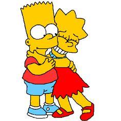 Lisa Y Bart, Bart And Lisa Simpson, Simpsons Tattoo, Lol Dolls, Cartoon Wallpaper, The Simpsons, Love Art, Sailor Moon, Animation