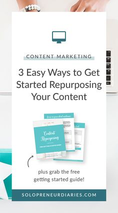 Learn 3 easy ways to get started repurposing content. You'll save time because your content will be more productive. Plus, get a free getting started guide. Business Entrepreneur, Business Tips, Online Business, Content Marketing Strategy, Social Media Marketing, Marketing Ideas, Digital Marketing, Introductory Paragraph, Make Money Blogging