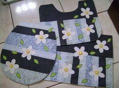 artesanato em tecido para banheiro passo a passo - Pesquisa Google