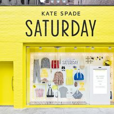 Until July shoppers can buy Kate Spade Saturday products at 4 pop-up window shops in downtown NYC. Browse and pay via a touch screen window and your phone. Cool Retail, Digital Retail, Retail Windows, Shop Windows, Pop Up Window, Kate Spade Saturday, Lovely Shop, Pop Up Shops, Digital Signage