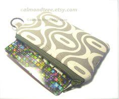 zipper coin purse credit card holder change wallet by AlmondTree https://www.etsy.com/sg-en/shop/AlmondTree #purse, #handmade, #etsy, #cardholder, #womenswallet
