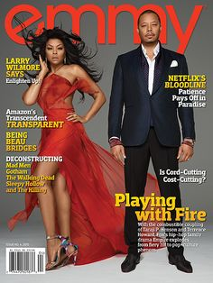 """EMPIRE Stars Taraji P. Henson & Terrence Howard Cover Emmy Magazine- http://getmybuzzup.com/wp-content/uploads/2015/06/469778-thumb.jpg- http://getmybuzzup.com/empire-stars-taraji-p-henson/- By Celeb Editor Taraji P Henson & Terrence Howard cover the latest issue of Emmy Magazine and inside their editorial spread there are a few steamy poses, photographed by Mike Ruiz. Speaking on the hit series, Terrance Howard says """"I didn't know that the American public was"""