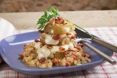 Patate al forno, formaggio e pancetta #food #patate #formaggio #pancetta #ricette #recipes #foodie
