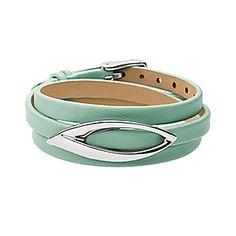 Modern Leaf Leather Bracelet