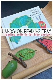 Hands on Reading Tray - GREAT reading activity for kids!