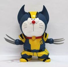 Wolverine 1pcs/set PVC Figures Marvel X MAN Doraemon Cute Mini Toys Q Action Anime Figures Kids Gifts Toys 1259