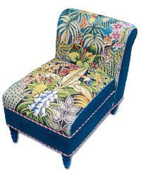 Trubey Jungle Scene chair - available through Fleur de Paris