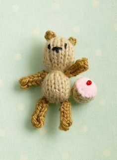 Here is a free pattern to make some teeny tiny toys - just under 2.5 inches (6 cms) tall. It's a wee bit fiddly but lots of fun! What you will need: some left-over scraps of 4ply yarn in pink,...