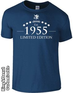 60 birthday tshirt birthday gift 1955 year classic by RingAndDonut
