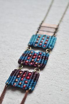Turquesa collar de circuito triple por AMiRAjewelry en Etsy
