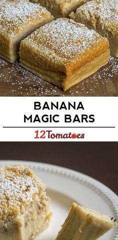 3-Layer Banana Magic Cake