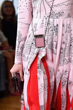 A model purse detail walks the runway during the Valentino show as part of the Paris Fashion Week Womenswear Spring/Summer 2017 on October 2 2016 in...