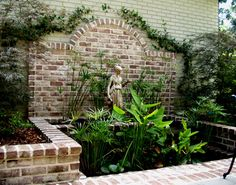 46 ideas for brick patio wall water features Diy Garden, Garden Pool, Water Garden, Dream Garden, Garden Art, Garden Design, Brick Garden, Garden Walls, Backyard Water Feature