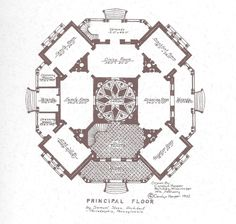 Longwood Plantation architectural layout. The structure remains unfinished.