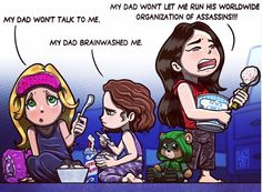 Felicity, Thea and Nyssa.  HILARIOUS.