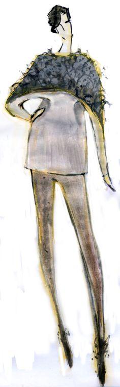fashion illutration - Pollock inspired