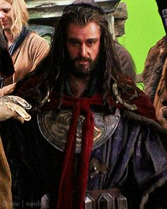Don't like the outfit.... but LOVE the dwarf wearing it! Who's looking at Thorin's clothes anyway?
