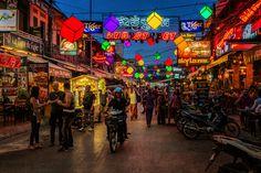 Pub Street - Siem Reap Cambodia by Phila