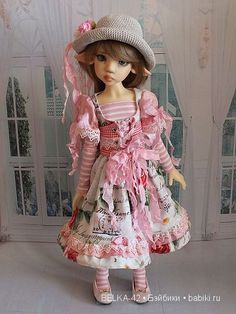 Розовое настроение. Лариса, Kaye Wiggs / Куклы Кайе Виггз, Kaye Wiggs dolls / Бэйбики. Куклы фото. Одежда для кукол