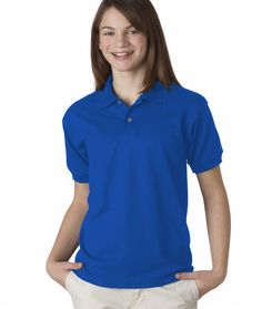 gildan(R) dryblend(R) youth jersey polo - royal (s/6-8)