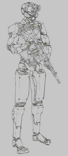 ArtStation - MANTIS - mech for a cyberpunk, retro-futuristic shooter, Will JinHo Bik