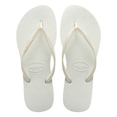d07f7afebf1053 Havaianas Slim White Womens Flip-Flops US Size 3 - 4000030 - Sandals - The  newest of Brazil s original and authentic flip-flops designed especially  for the ...