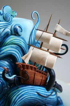 Tutorial torta mare in tempesta