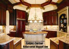 Luxury+Italian+Furniture | luxury Italian kitchen design with wooden kitchen furniture and wooden ...