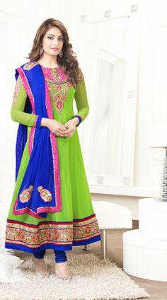 Bipasha Basu In Light Green Salwar Kameez BR100638
