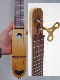 Custom Designed Pocket Ukulele Cigar Box Guitar, Music Guitar, Guitar Diy, Ukulele Design, Fallout, Ukulele Chords, Ukulele Art, Homemade Instruments, Ukelele