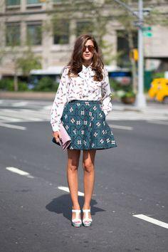 Print on Print on Eleanora Carisi. New York Spring 2015 Street Style - Street Style - Harper's BAZAAR.