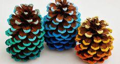 basteln mit naturmaterialien-coole deko idee mit zapfen