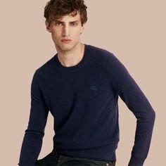Shop Now - >  https://api.shopstyle.com/action/apiVisitRetailer?id=484044690&pid=uid6996-25233114-59 Burberry Crew Neck Cashmere Sweater  ...