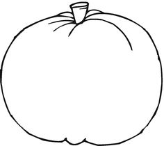 Free pumpkin coloring sheet education october for Blank pumpkin coloring page