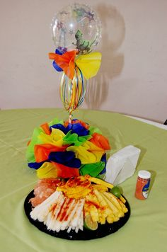 Centro de mesa con pi a y fruta areglo pinterest mesas for Centros de mesa con frutas