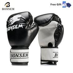 1 Paire Nouveau Style Mitaines De Boxe Muay Thai Gants De Boxe Grappling  Formation Poinçonnage Sparring 7aab11b0faaf0