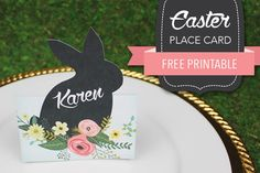 Free Easter place card template
