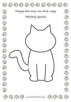 karty pracy 3 latki - Szukaj w Google Teddy Bear Day, Diy And Crafts, Arts And Crafts, Cat Activity, Age 3, Videos Funny, Cartoon Art, Kindergarten, Homeschool