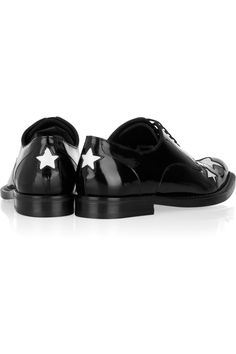nice detail, D&G Star-cutout patent-leather brogues