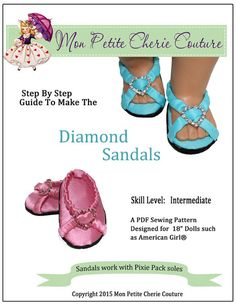 "DIAMOND SANDALS 18"" DOLL SHOES"