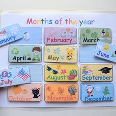 Calendar Pictures, Kids Calendar, Calendar Ideas, Preschool Activities, Weather Activities, Educational Activities, Kindergarten Learning, Kids Learning, Homeschool Worksheets