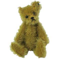 Early Stieff Miniature Teddy Bear Trailing F Button.