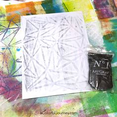 How to Make Your Own Coloring Page with Graphite Putty and a Stencil Tutorial with Carolyn Dube