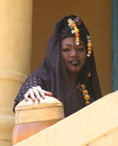 Africa | Portrait of a Fulani woman. Senegal. So gorgeous! LOVE her makeup.